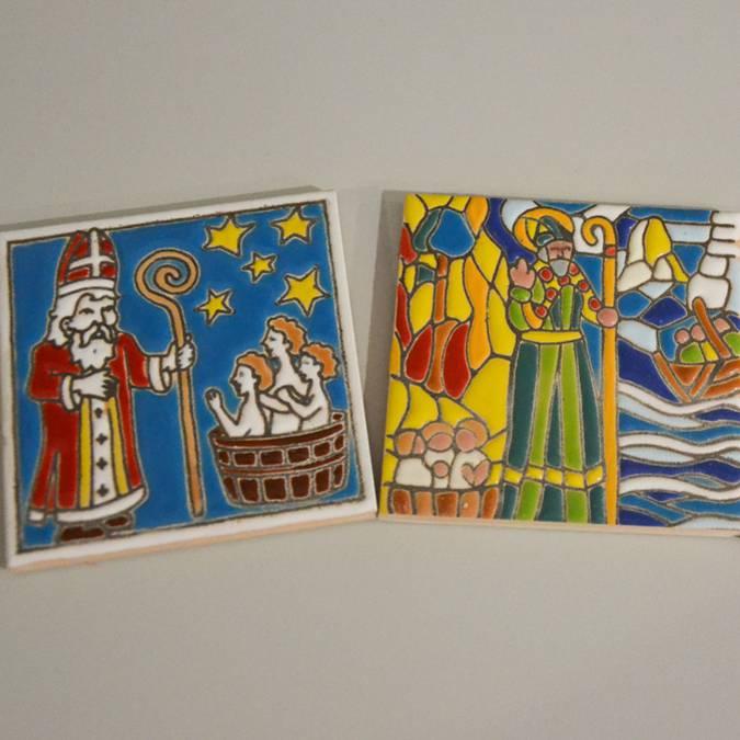 Magnet Saint Nicolas - Christmas gifts - Vosges handicraft products - Epinal Tourist Office shop